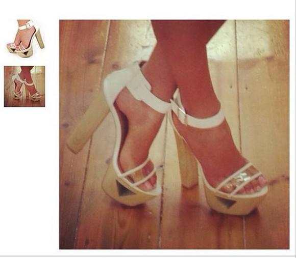 high heels whitepvcheels