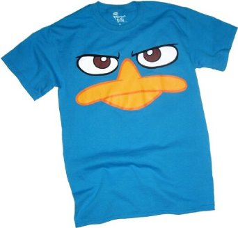 Amazon.com: Perry Platypus - Face - Phineas & Ferb Adult T-Shirt: Clothing