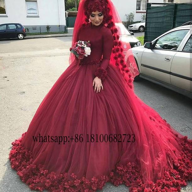 dress, beautyu, muslim wedding dresses, islamic wedding dress, ball ...