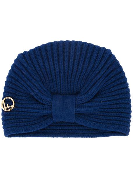 Fendi women hat blue wool