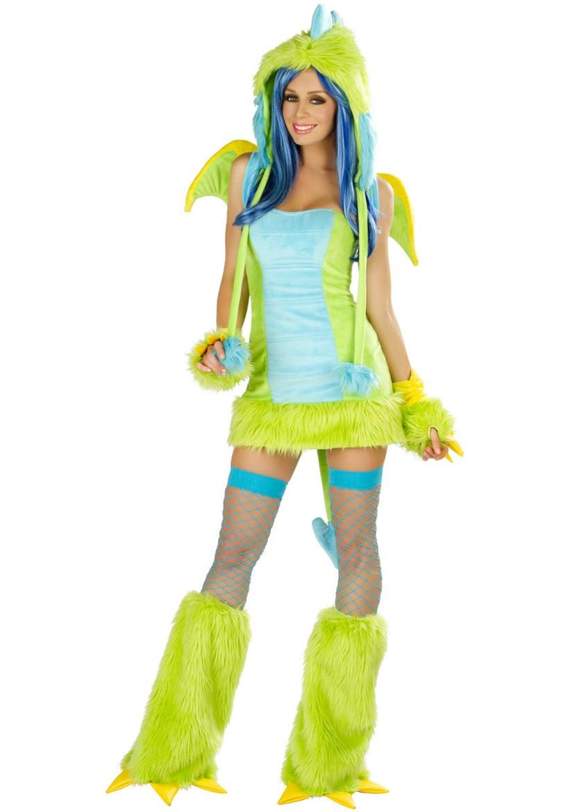 Green Dinosaur Halloween Ladies Dress