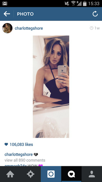 top cut-out swimsuit celebrity style geordie shore detail strappy lowcut charlotte geordie shore charlotte crosby style blogger