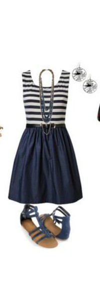 navy blue stripped