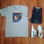t-shirt,supreme,grey