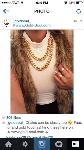 shirt vest dope fur faux fur fur vest swag chic vogue tumblr hipster jewels