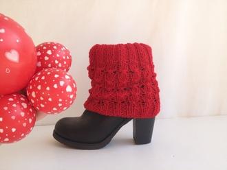 leggings socks fashion knitwear christmas 2015 winter trends 2015 trends leg warmers knit socks red christmas leggings xmas gift valentines day valentines day gift for her for her boot cuffs boot socks