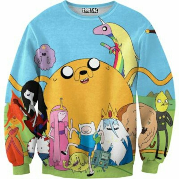 jacket adventure time sweater