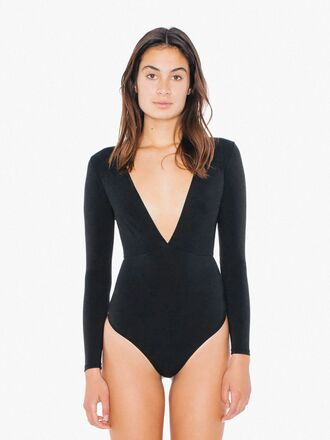 underwear bodysuit black bodysuit deep v