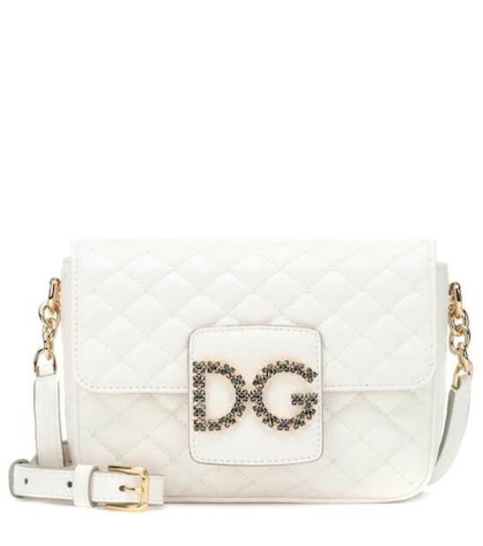 Dolce & Gabbana DG Millennials Small shoulder bag in white