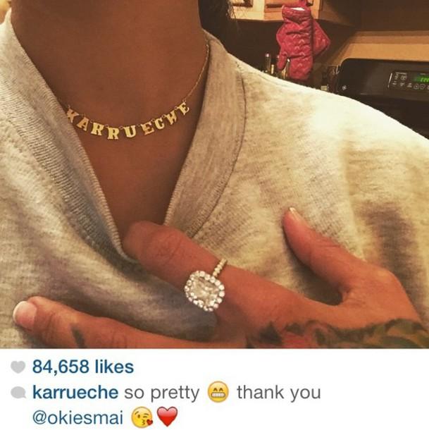 necklace name necklace jewelry karrueche karrueche jewels