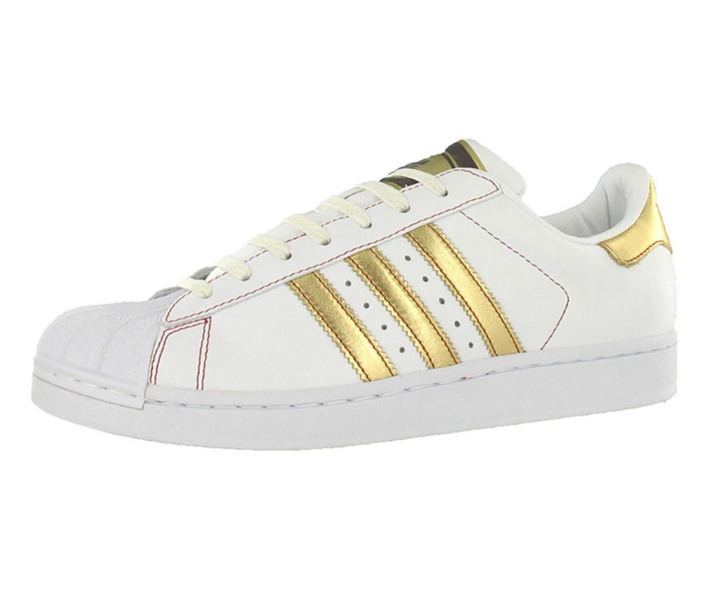 Adidas Superstar 2 Run White/Metallic Gold-Red (581491)