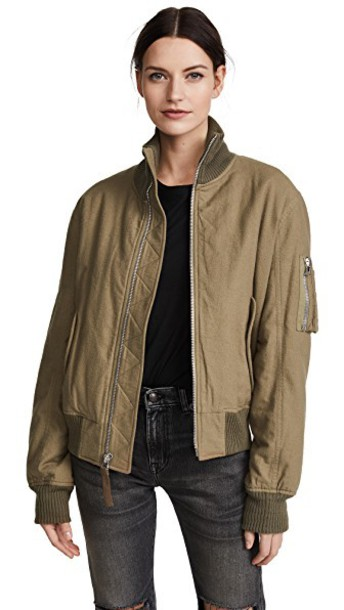 Helmut Lang jacket bomber jacket high green army green