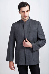 grey,menswear,mens jacket,monochrome,mandarin,mandarin collar,heather grey,minimalist