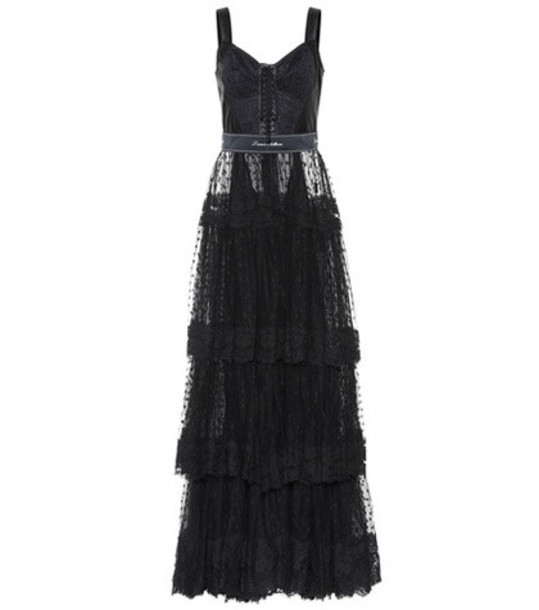 Dolce & Gabbana Tulle gown in black