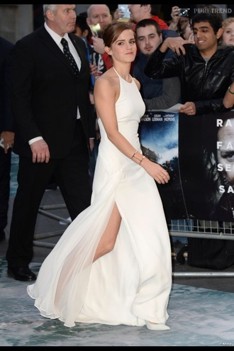 dress emma watson white dress