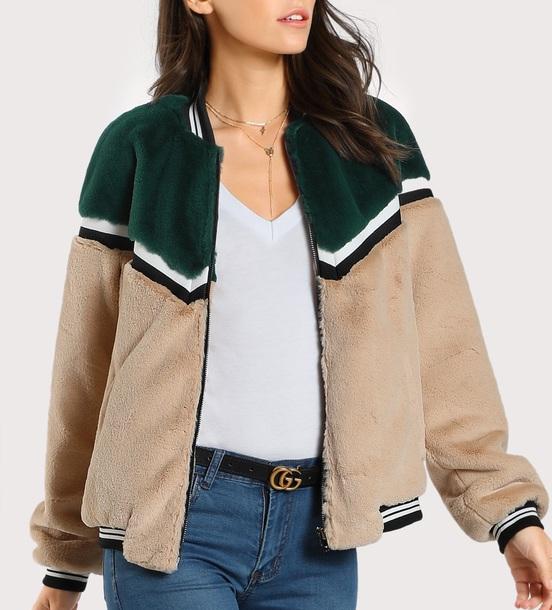 jacket girly fur fur jacket fuzzy coat zip zip up jacket