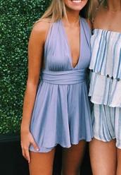 dress,liliac,deep v dress,sundress
