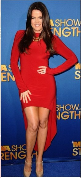 dress red dress khole kardashian