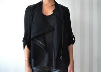 jacket black tumblr