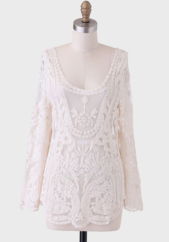 french quarter embroidered blouse modern vintage tops