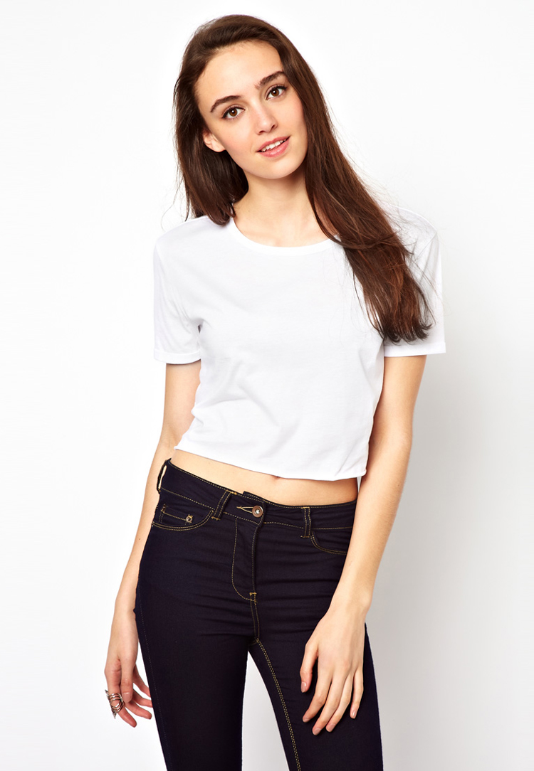 (SOLD) white crop tee | SHOP fashion distraction