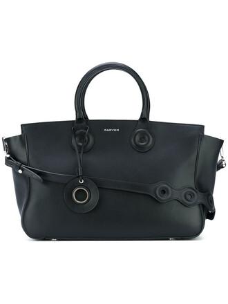 women classic leather black bag
