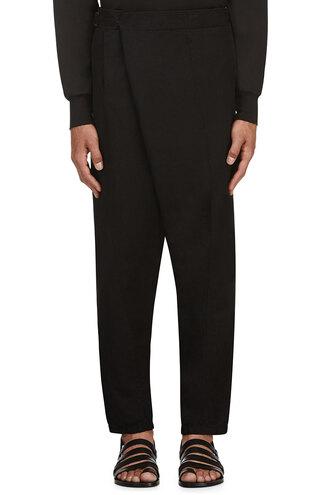 pants black harem bamboo clothes menswear