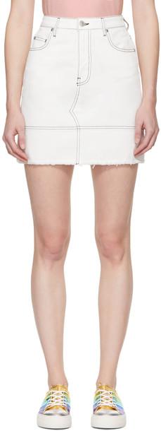 MSGM miniskirt denim white skirt