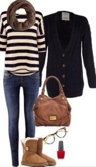 bag sweater shorts leather bag cute outfit black knit sweater fake uggs tote shirt jeans