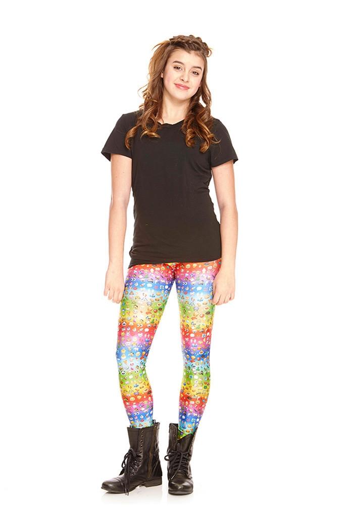 8b8efa66c0070 Zara Terez - Girls Emoji Rainbow Leggings