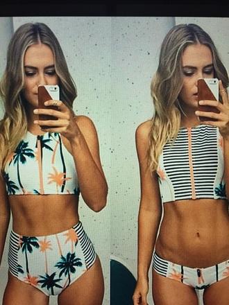 swimwear bikini palm tree print