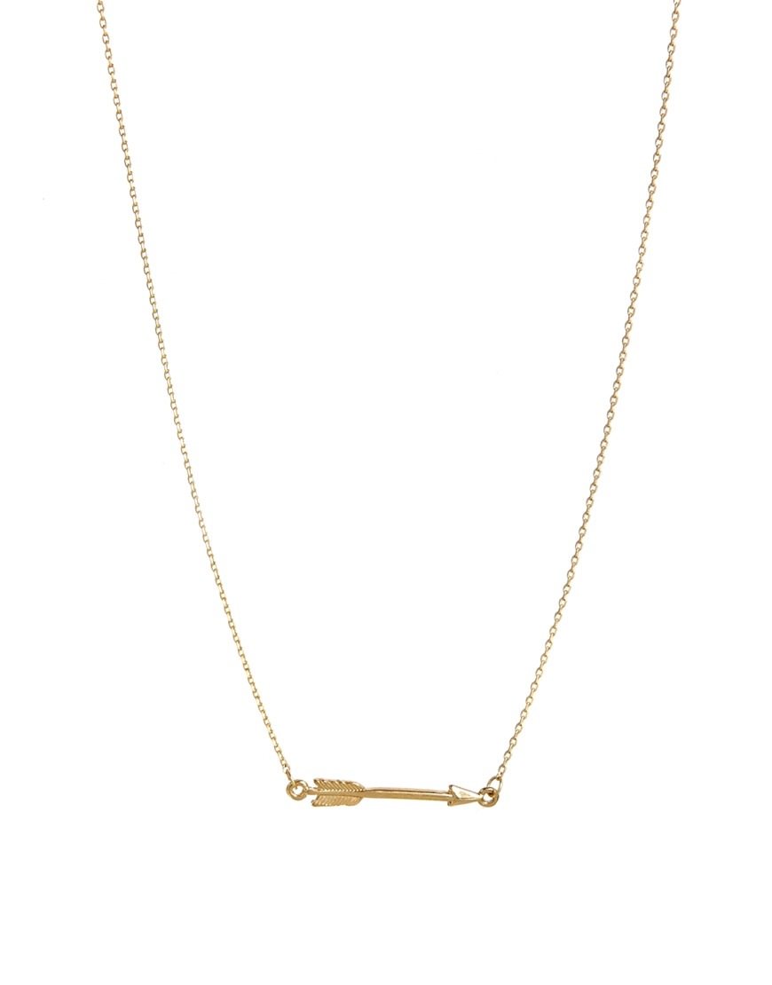 Orelia large arrow necklace at asos.com