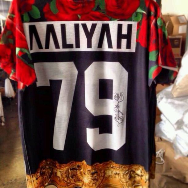 shirt aaliyah 79 roses jersey blouse red flowers black