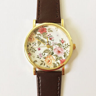 jewels watch handmade style fashion vintagee tsy vintage etsy freeforme floral flowers new summer spring gift ideas