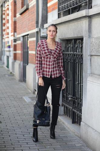 from brussels with love blogger shirt jeans shoes bag black jeans spring outfits ankle boots black bag shoulder bag