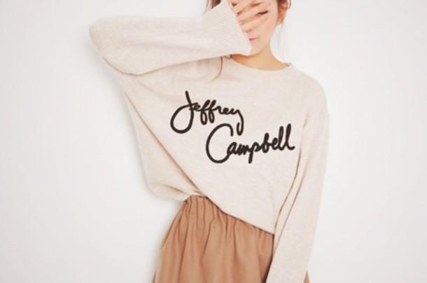 sweater style girl jeffrey campbell oversized sweater