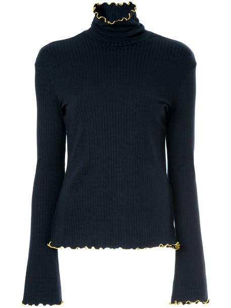 sweater turtleneck turtleneck sweater women blue