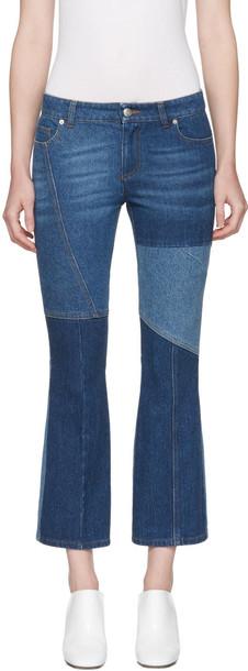Alexander Mcqueen jeans patchwork blue