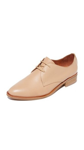 oxfords nude shoes