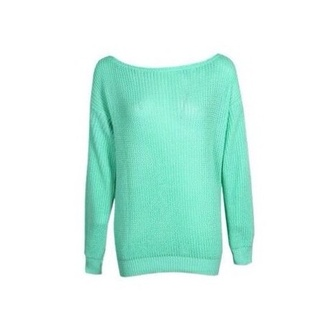 shirt mint long sleeves sweater green
