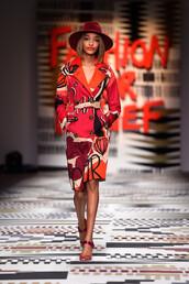 coat,jourdan dunn,fashion week 2015,colorful