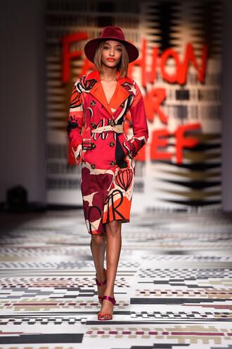 coat jourdan dunn fashion week 2015 colorful