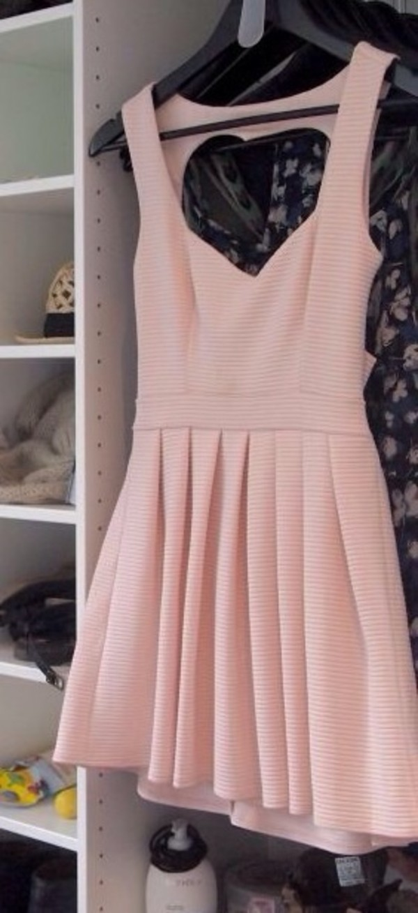 dress pink dress open heart back nice heart rose pink stripes rose dress red white live