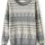 Grey Long Sleeve Snowflake Polka Dot Sweater - Sheinside.com