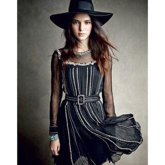 kendall jenner kardashians hat black dress
