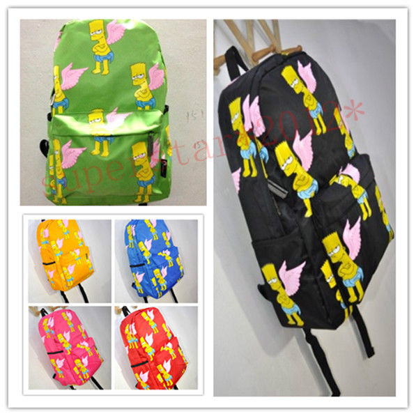 K-pop bigbang Simpson wing Backpack Shoulder Schoolbag harajuku fashion new