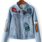 Light blue button front sequined jacket | victoriaswing