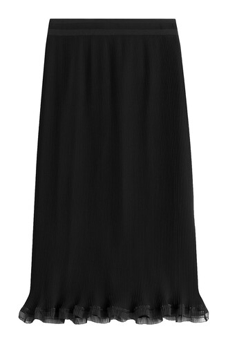 skirt pencil skirt ruffle black