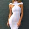 White off shoulder bodycon maxi dress on storenvy