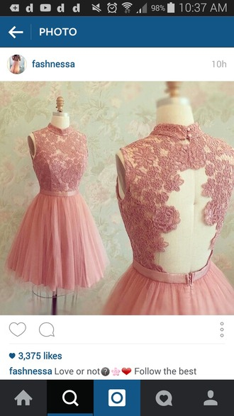 dress pink dress lace dress lace pink tutu tutu dress open back dresses open back prom dress